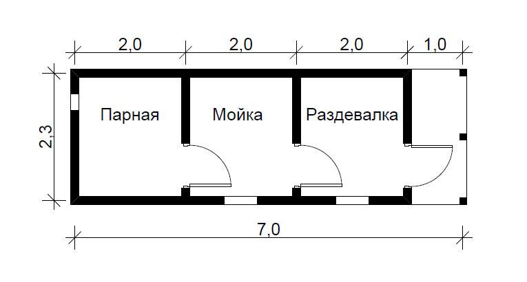 Проект баня 3х3 своими руками 363